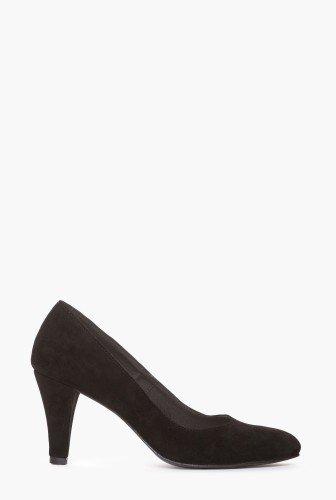 Pantofi negri din piele intoarsa naturala 1719-N – Pantofi –