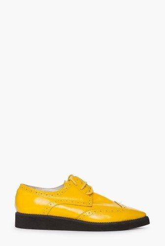 Pantofi oxford galbeni din piele naturala CB052 – Pantofi –
