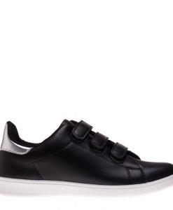 Pantofi sport copii Matei negru-argintiu cu scai - Incaltaminte Copii - Pantofi Sport Copii
