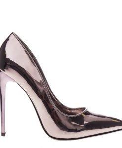 Pantofi stiletto Cierra gun metal - Incaltaminte Dama - Pantofi Stiletto
