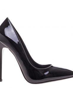 Pantofi stiletto Katia negri - Incaltaminte Dama - Pantofi Stiletto