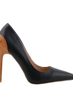 Pantofi stiletto Pearl negri - Incaltaminte Dama - Pantofi Stiletto