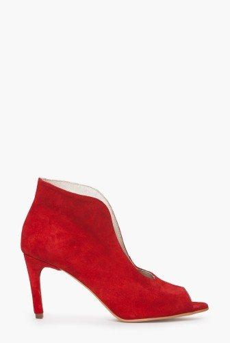 Pantofi stiletto din piele intoarsa naturala CB071 – Pantofi –