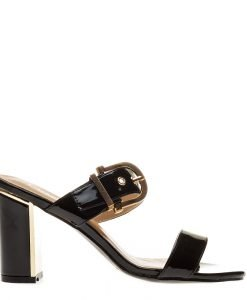 Papuci dama Hailee negri - Incaltaminte Dama - Papuci Dama