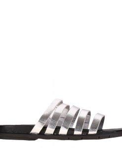 Papuci dama Mara argintii - Incaltaminte Dama - Papuci Dama