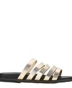 Papuci dama Mara aurii - Incaltaminte Dama - Papuci Dama