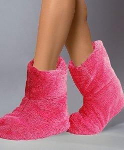 Papuci de casa caldurosi Pink - Lenjerie pentru femei - Capoate