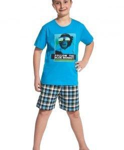 Pijama baietei Blue Monkey - Lenjerie pentru femei - Pijamale si capoate pentru copii
