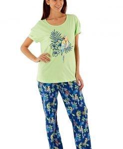 Pijama dama Parrot din bumbac - Lenjerie pentru femei - Pijamale dama