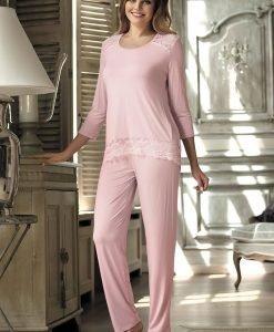 Pijama eleganta Olimpia Pink - Lenjerie pentru femei - Pijamale dama