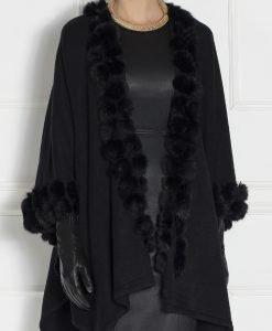 Poncho EXPO127 Negru - Imbracaminte - Imbracaminte / Haine de blana