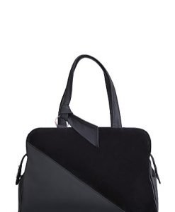 Poseta neagra din piele naturala model 047 - Genti office -