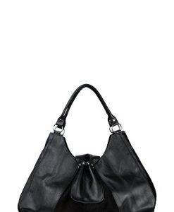 Poseta neagra din piele naturala model 070 - Genti casual -