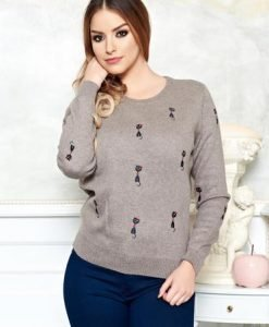 Pulover Cute Kitty Brown - Pulovere -