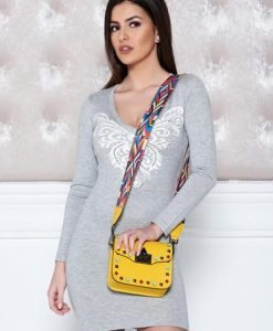 Pulover MissQ Butterfly Spread Grey - Pulovere -