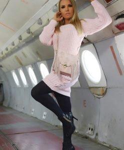 Pulover MissQ Warm Up Rosa - Pulovere -