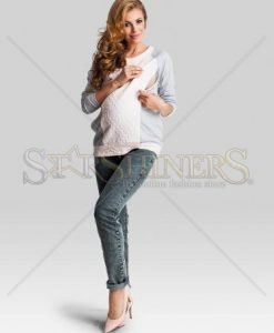 Pulover Pentru Gravide Womanly Peach - Pulovere -