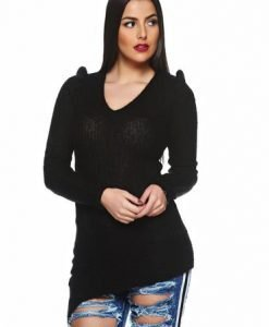 Pulover PrettyGirl Exclusive Look Black - Pulovere -