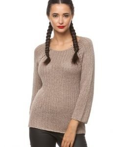 Pulover casual din tricot 5686 bej - Pulovere -