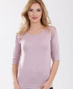 Pulover lila din tricot 1F.333 - Pulovere -