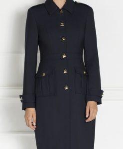 Redingota dreapta stil military Bleumarin - Imbracaminte - Imbracaminte / Paltoane