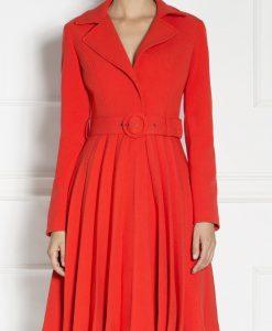 Redingota plisata rosie Rosu - Imbracaminte - Imbracaminte / Paltoane