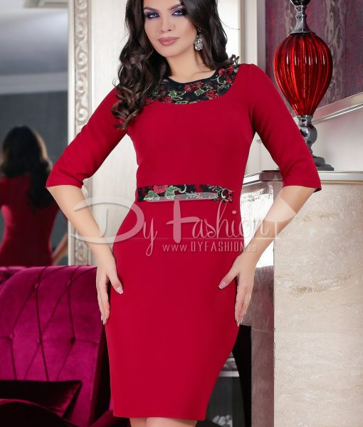Rochie Bordo Words – ROCHII – Rochii Office