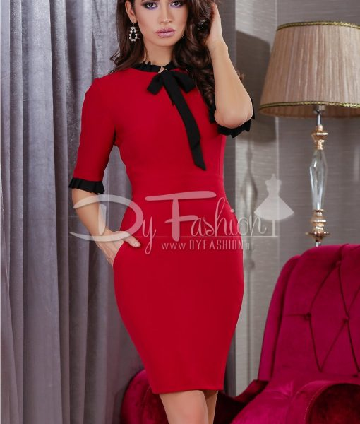 Rochie Light Bordo – ROCHII – Rochii Office