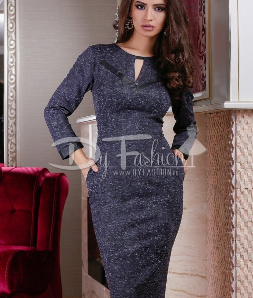Rochie Office Lady Dark Blue – ROCHII – Rochii Office