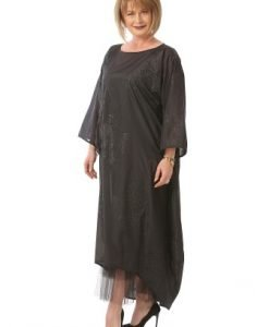 Rochie de seara RO91-M negru - Marimi mari -