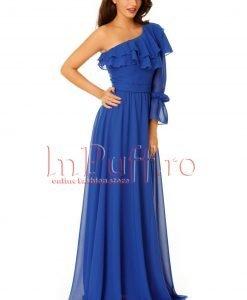 Rochie de seara lunga albastra din voal - ROCHII -