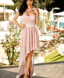 Rochie eleganta rose asimetrica - ROCHII -
