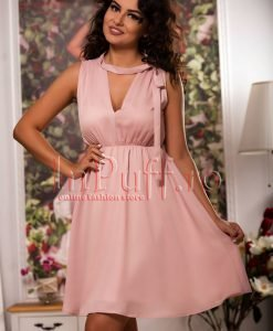 Rochie lejera de vara roz pudra - ROCHII -