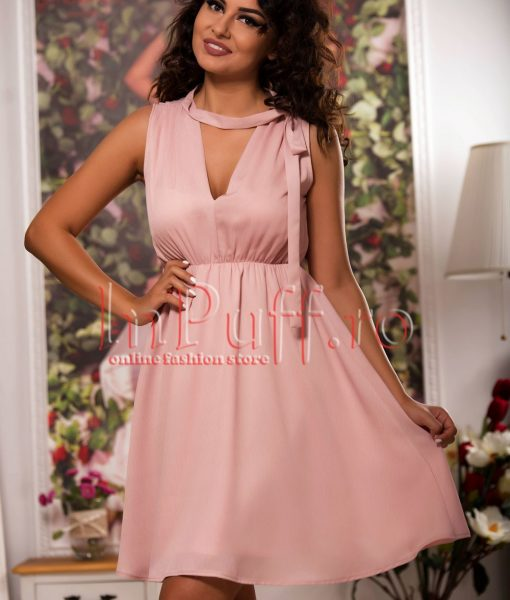 Rochie lejera de vara roz pudra – ROCHII –