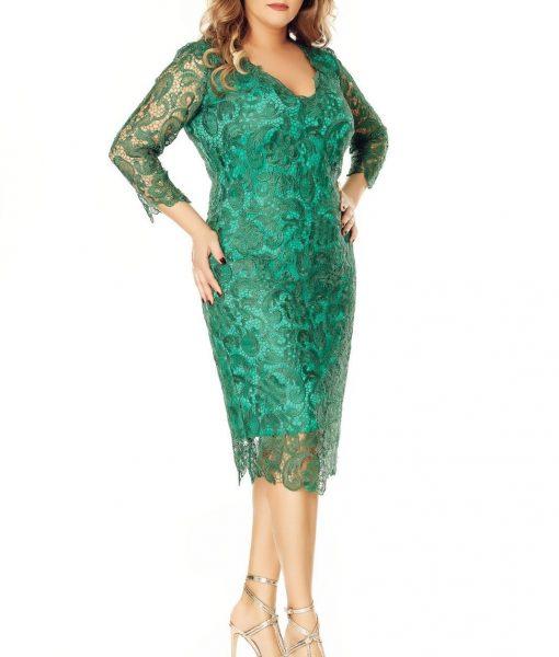 Rochie midi din dantela verde – ROCHII de SEARA –