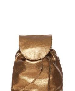 Rucsac din piele naturala cu fermoar S-FM bronz - Rucsacuri -