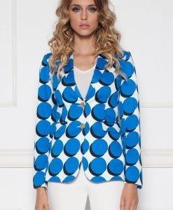 Sacou cu print geometric Print/Albastru - Imbracaminte - Imbracaminte / Sacouri
