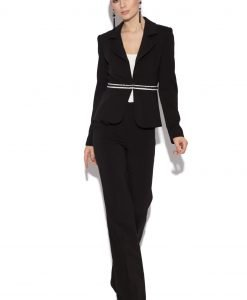 Sacou negru office cu insertie in talie Negru - Imbracaminte - Imbracaminte / Sacouri