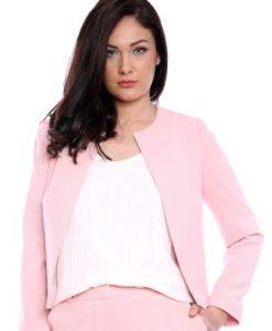 Sacou roz din stofa AM-60604 - Sacouri -