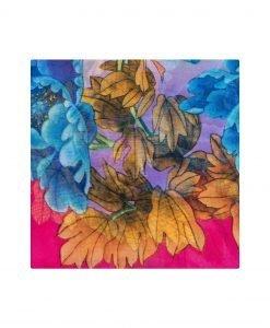 Sal multicolor din matase Fuchsia - Accesorii - Accesorii / Saluri