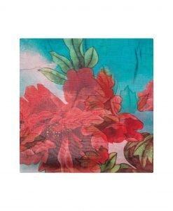 Sal multicolor din matase Rosu - Accesorii - Accesorii / Saluri