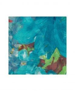 Sal multicolor din matase Turcoaz - Accesorii - Accesorii / Saluri