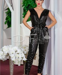 Salopeta Black Sequin - Haine - Salopete