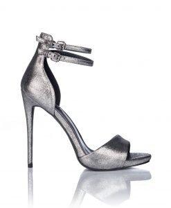 Sandale argintii cu bareta dubla Argintiu - Incaltaminte - Incaltaminte / Sandale