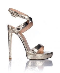 Sandale aurii cu toc Auriu - Incaltaminte - Incaltaminte / Sandale