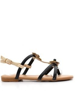 Sandale copii Monika negre - IMPORT - Reduceri explozive