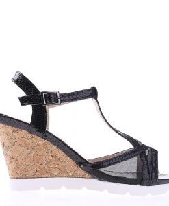Sandale dama cu platforma Amirah negre - Sandale cu Platforma - Sandale cu Platforma