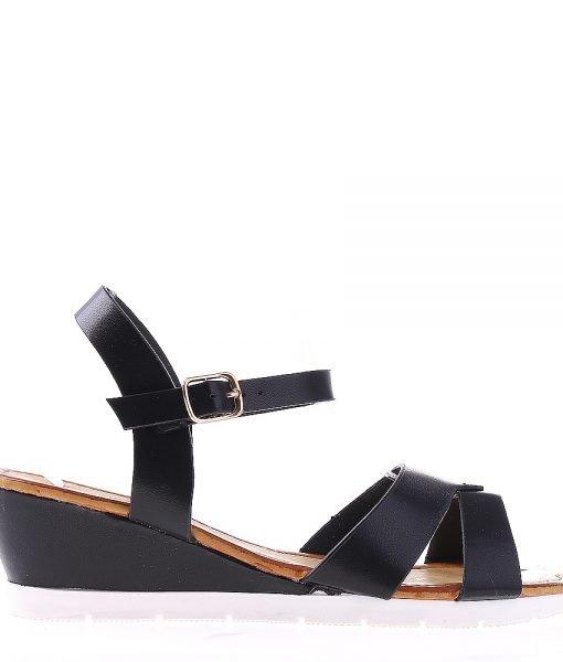 Sandale dama cu platforma Jeraldine negre – Incaltaminte Dama – Sandale Dama