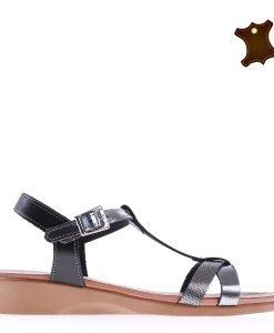 Sandale dama piele Rosita negre - Incaltaminte Dama - Promotii Dama