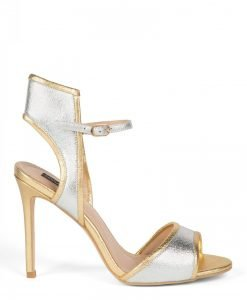Sandale elegante argintii Argintiu/Auriu - Incaltaminte - Incaltaminte / Sandale
